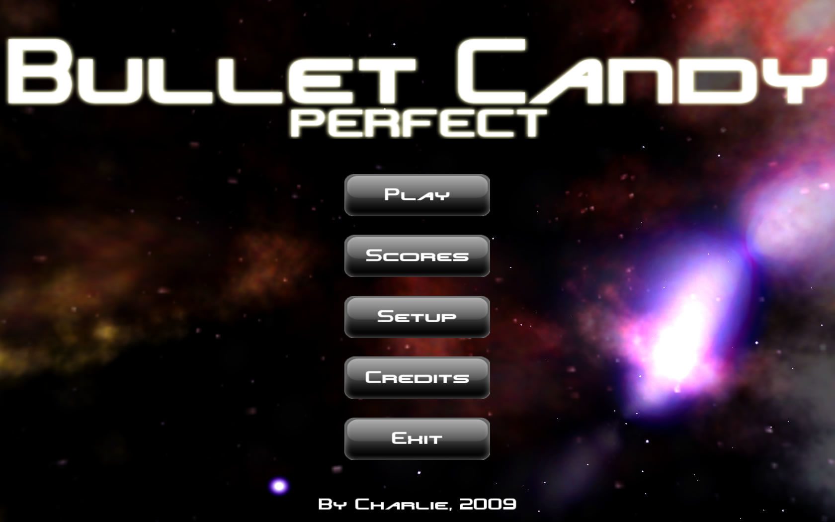 Bullet Candy Perfect Windows Main menu