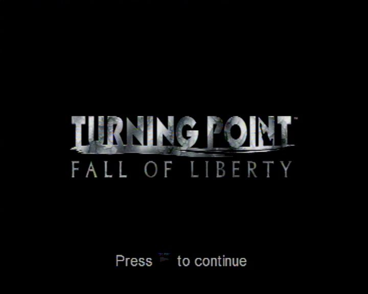 Turning Point: Fall of Liberty PlayStation 3 Title screen