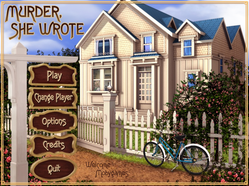 Murder, She Wrote Windows Main menu