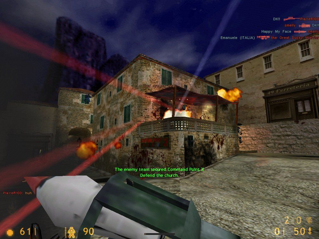 Team Fortress Classic Windows Looks like a big firefight!