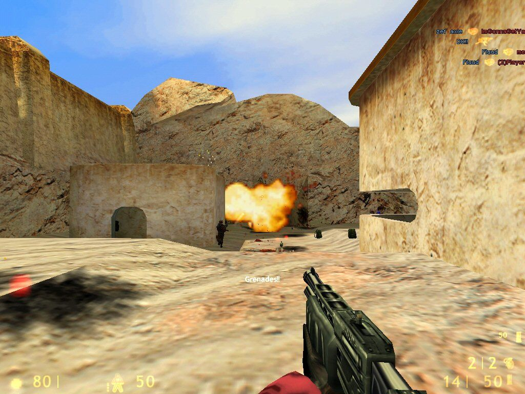 Team Fortress Classic Windows Grenades are perfect for this round.