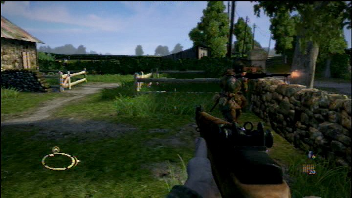 Brothers in Arms: Hell's Highway PlayStation 3 Your team is engaging the enemy.