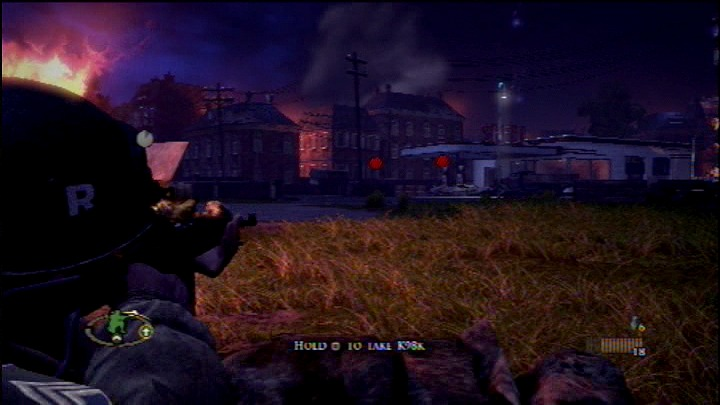Brothers in Arms: Hell's Highway PlayStation 3 Shoot the tanks at the gas pump to clear out the enemy with as few bullets as possible.