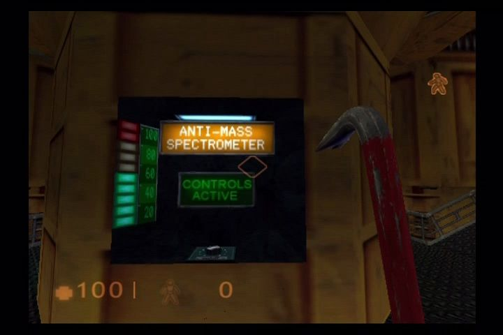 Half-Life PlayStation 2 Behind the scenes from the famous opening sequence... One player starts the machinery.