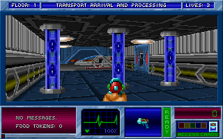 Blake Stone: Aliens of Gold DOS Start of Chapter 2. The shuttle that brought you to the Floating Fortress.