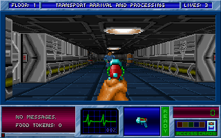 Blake Stone: Aliens of Gold DOS Fighting through the fortress halls.
