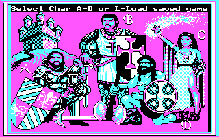 King's Bounty DOS Character Select (CGA)