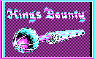 King's Bounty DOS Title Screen (CGA)
