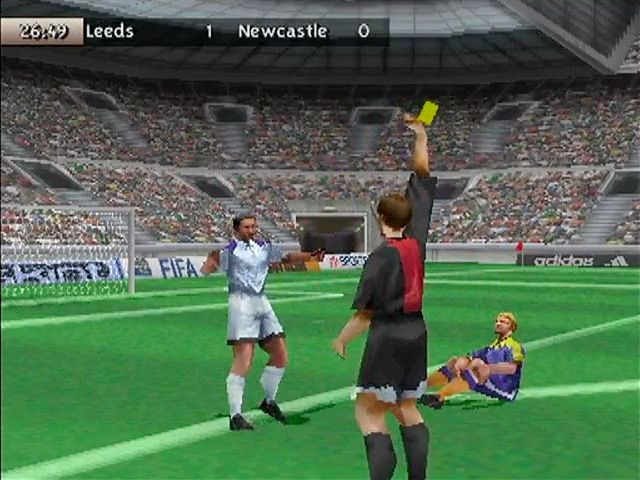 fifa 99 screenshots for playstation