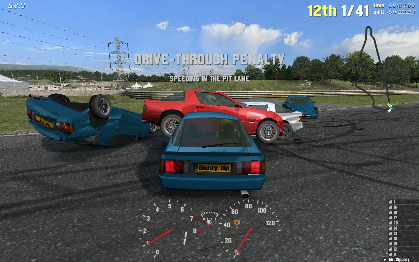 Live for Speed S2 Windows Vehicular carnage