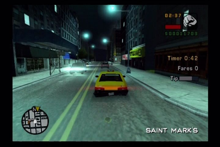 Grand Theft Auto: Liberty City Stories PlayStation 2 Hitting the streets at night.
