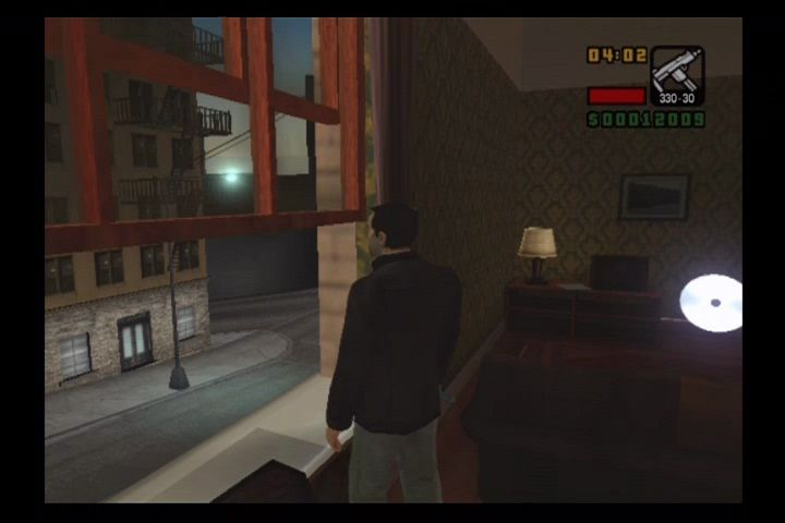 Grand Theft Auto: Liberty City Stories PlayStation 2 Watching the streets outside your safehouse.