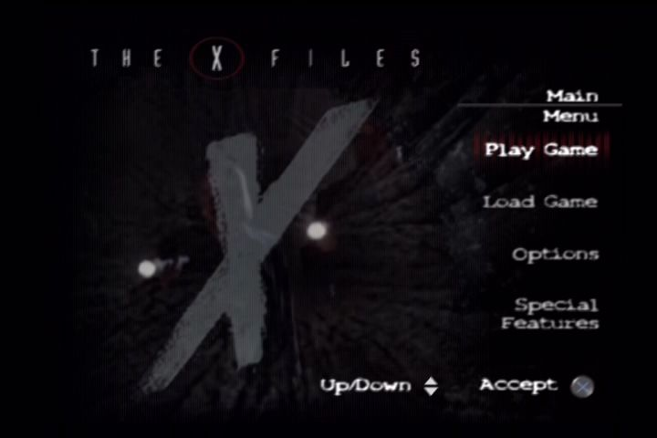 The X-Files: Resist or Serve PlayStation 2 Title screen