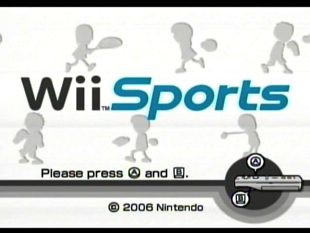 Wii Sports Wii Title screen