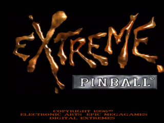Extreme Pinball PlayStation Title screen