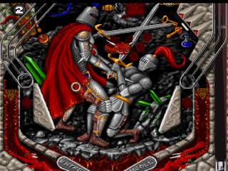 Extreme Pinball PlayStation Medieval Knights - Ring ball and dragon