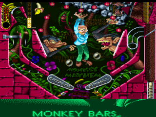 Extreme Pinball PlayStation Monkey Mayhem bottom