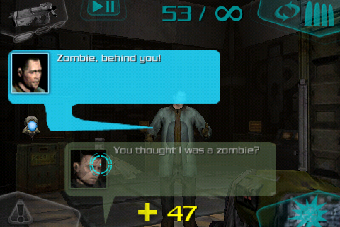 DOOM Resurrection iPhone There's more dialogue in this game than in the original Doom 3.
