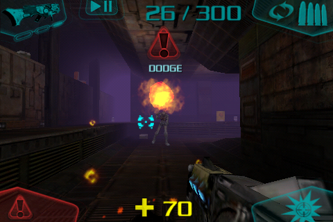 DOOM Resurrection iPhone Imp and Hellknight fireballs need to be dodged at the right moments.