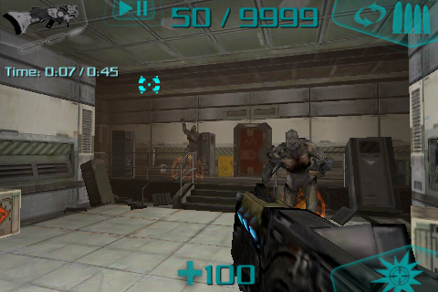 DOOM Resurrection iPhone Two imps thinking they can win against me.