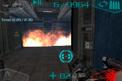 DOOM Resurrection iPhone And boom make the grenades. This explosion is the reason you don't have any in this game.