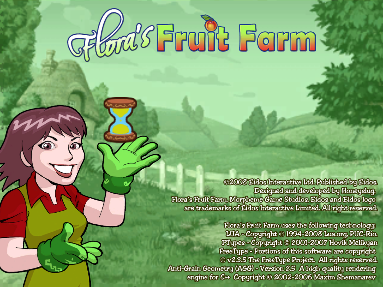 Flora's Fruit Farm Windows Title screen
