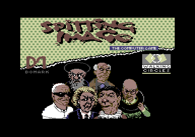 Spitting Image: The Computer Game Commodore 64 Title screen