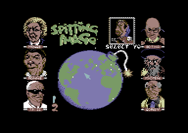 Spitting Image: The Computer Game Commodore 64 Choose your fighter