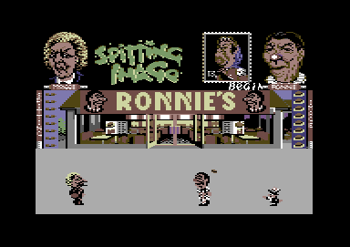 Spitting Image: The Computer Game Commodore 64 Margaret Thatcher vs. Ronald Reagan