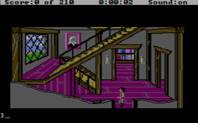 King's Quest III: To Heir is Human DOS Dining Room (CGA Composite)