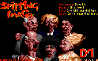 Spitting Image: The Computer Game Amiga Title screen