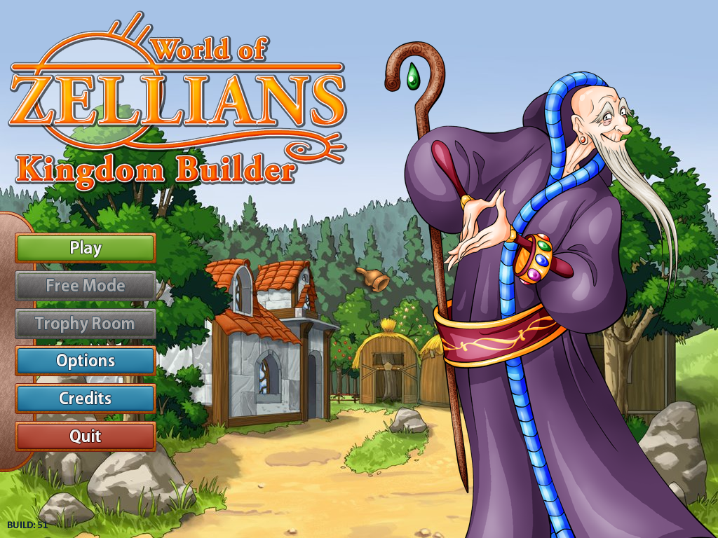World of Zellians: Kingdom Builder Windows Main menu
