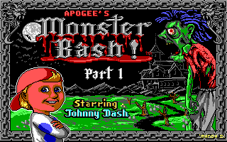 Monster Bash DOS Part 1 title screen