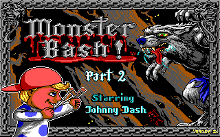 Monster Bash DOS Part 2 title screen