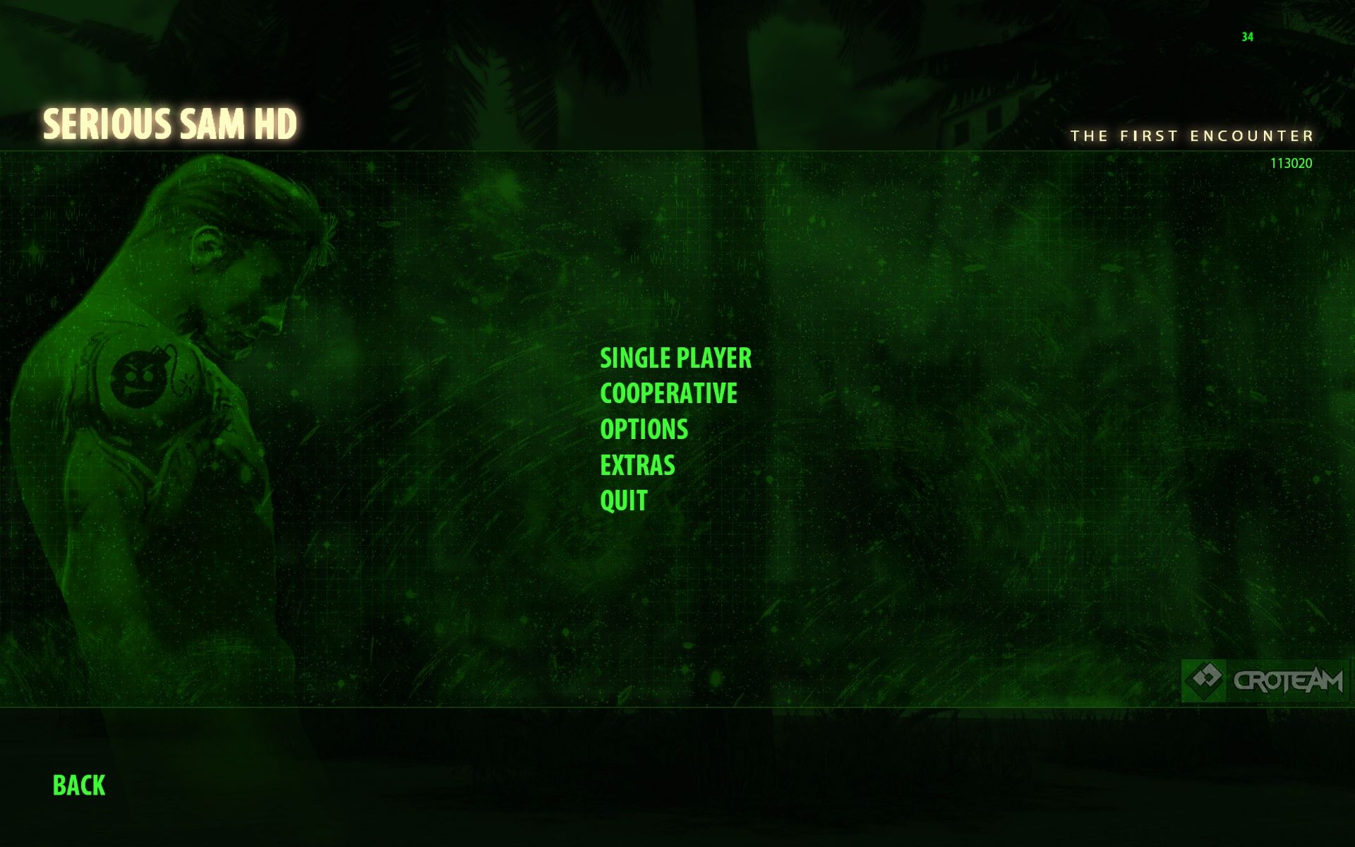 Serious Sam HD: The First Encounter Windows Main Menu