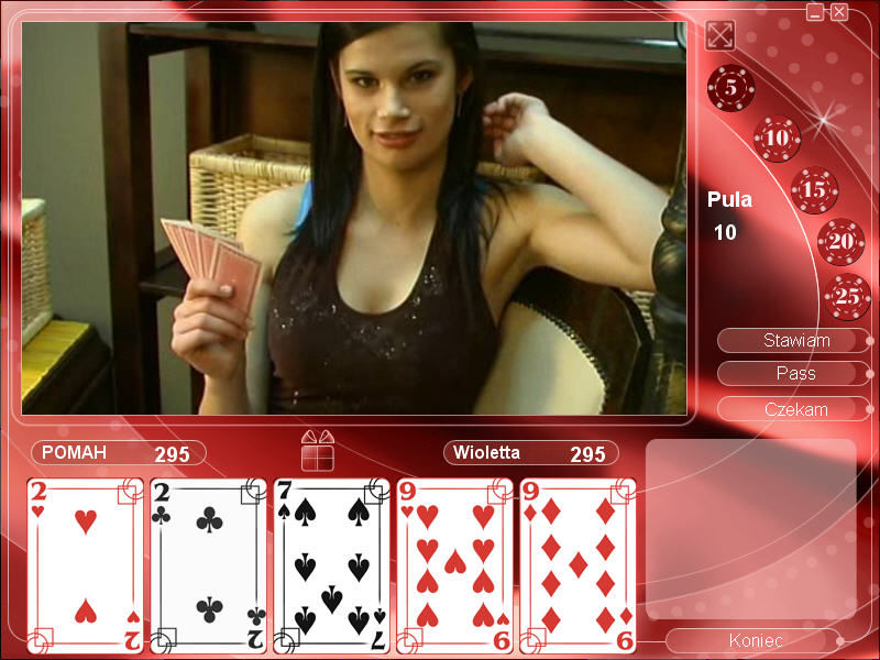 Strip Poker Exclusive 2 Windows Starting to play with Violetta (in Polish)