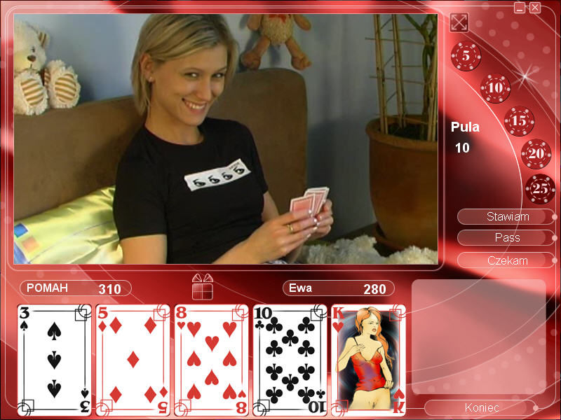 Strip Poker Exclusive 2 Windows Eve without a jacket (in Polish)