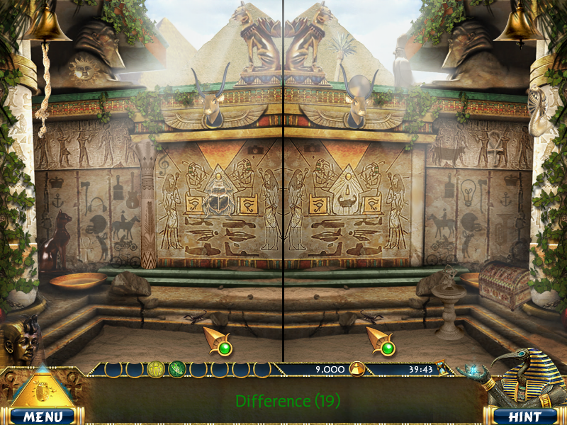 Luxor Adventures Windows Spot-the-differences game