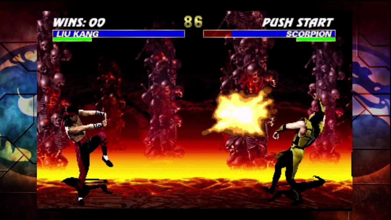 Ultimate Mortal Kombat 3 Xbox 360 The Xbox360 port emulates the original arcade look closely.
