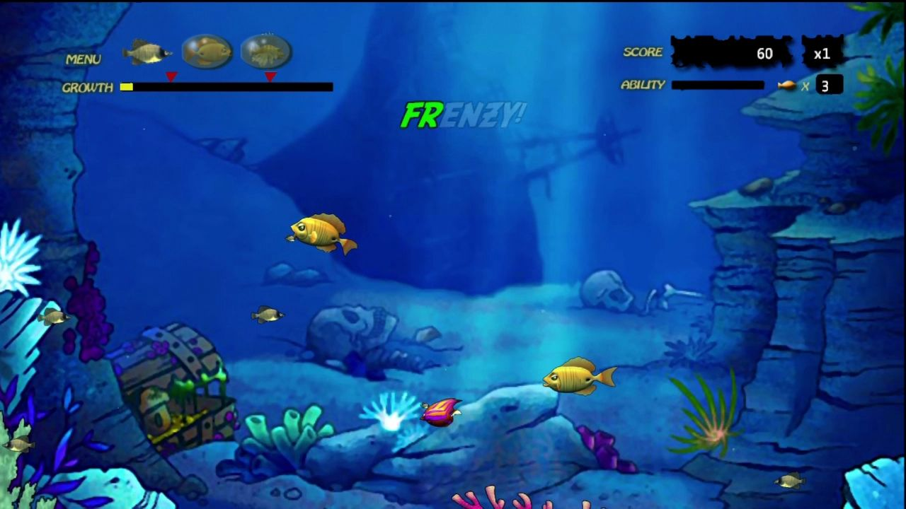 Feeding frenzy screenshots for xbox 360 mobygames for Fish frenzy game