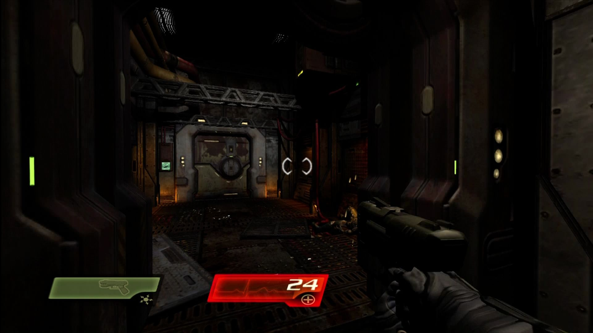 Quake 4 Xbox 360 Heading into the facility to look for your squad.