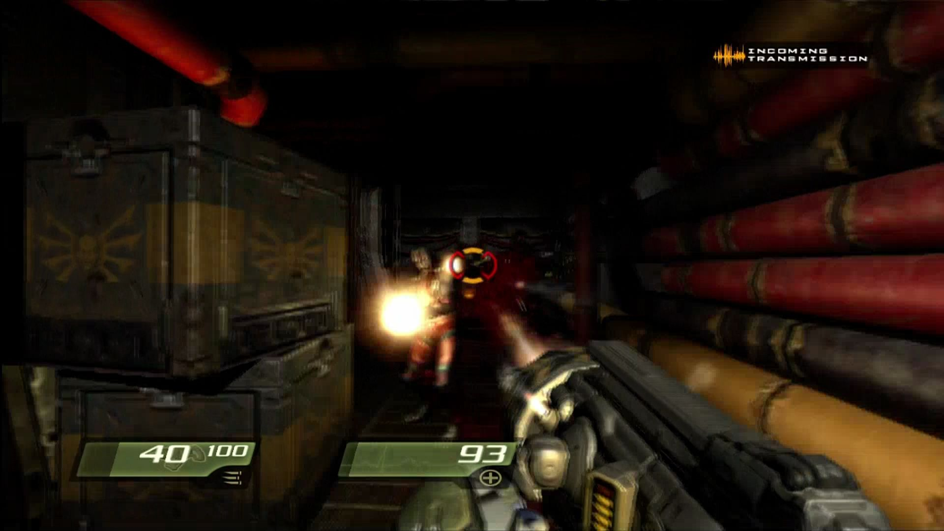 Quake 4 Xbox 360 Blur effect when hit.