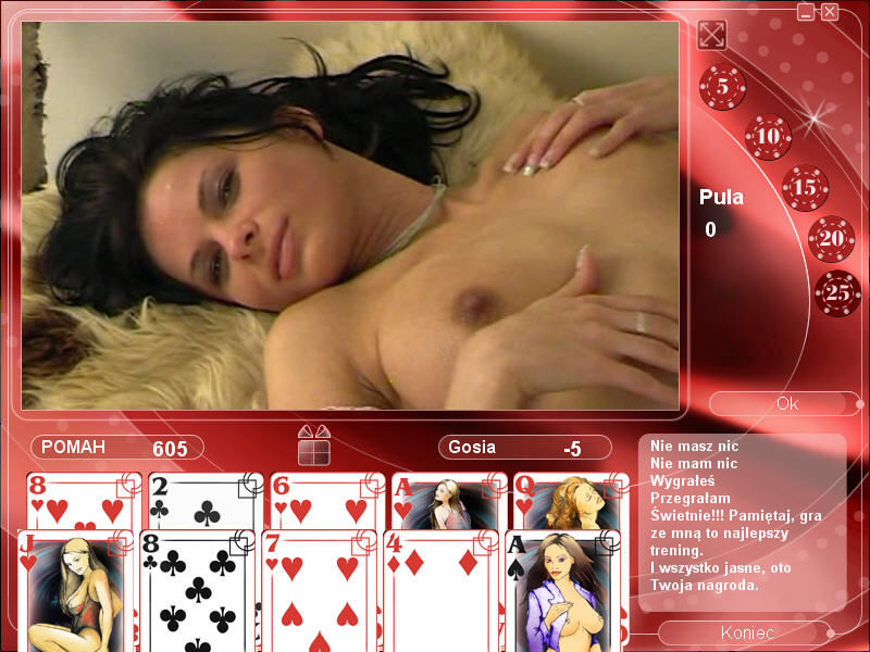 Strip Poker Exclusive 2 Windows Nicky is enjoyed (in Polish)