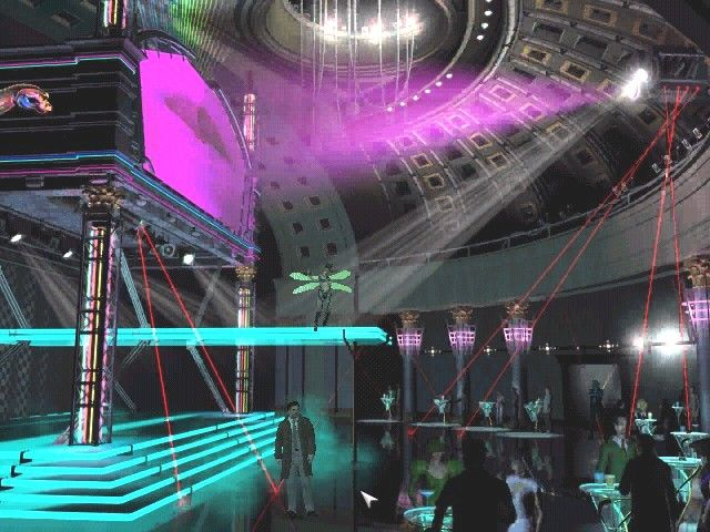 Blade Runner Windows McCoy watches Dektora dance inside Early-Q's nightclub, prior to confronting her about the case.