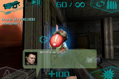 DOOM Resurrection iPhone Meet Sam - the flying turret that is totally defenseless.