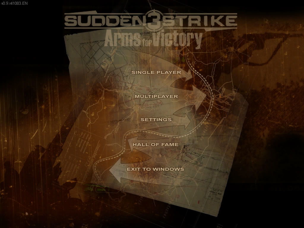 Sudden Strike 3: Arms for Victory Windows Main menu (demo version)