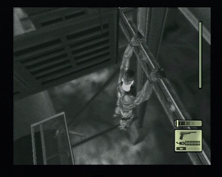 Tom Clancy's Splinter Cell PlayStation 2 What all risks Sam won't take just for a great view.
