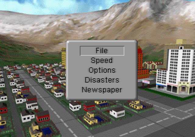 SimCity 2000 SEGA Saturn Pause menu