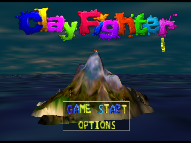 Clay Fighter 63 1/3 Nintendo 64 Title