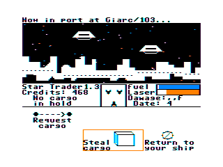 Star Trader TRS-80 CoCo Attempt to steal some cargo?